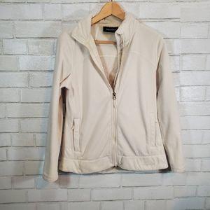 Marmot white fleece jacket